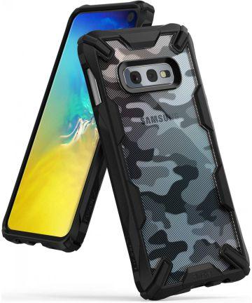 Ringke Fusion X Samsung Galaxy S10E Hoesje Camo Zwart Hoesjes