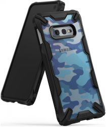 Ringke Fusion X Samsung Galaxy S10E Hoesje Camo Blauw