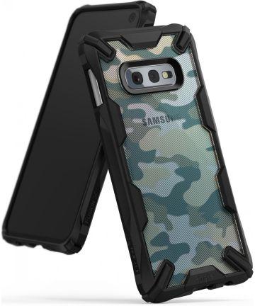 Ringke Fusion X Samsung Galaxy S10E Hoesje Camo Groen Hoesjes