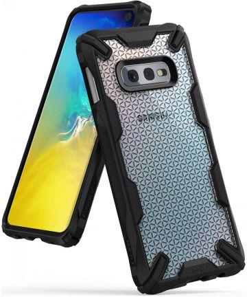 Ringke Fusion X Samsung Galaxy S10E Hoesje Hexagon Zwart Hoesjes