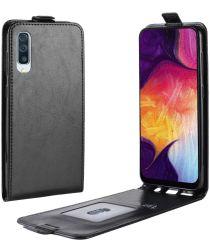 Samsung Galaxy A50 Hoesje Verticale Flipcase Zwart
