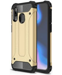 Samsung Galaxy A40 Hoesje Shock Proof Hybride Back Cover Goud