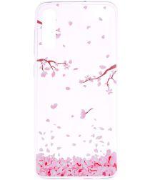 Samsung Galaxy A50 Hoesje TPU met Print Falling Petals