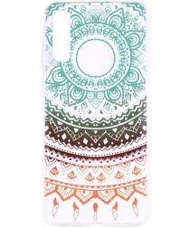 Samsung Galaxy A50 Hoesje TPU met Print Colorful Mandala