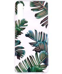 Samsung Galaxy A50 Hoesje TPU met Print Leaves
