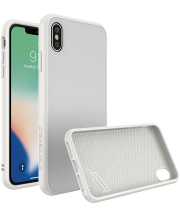 RhinoShield SolidSuit iPhone XS Max Hoesje Classic White Hoesjes