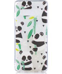 Samsung Galaxy S10 Plus TPU Hoesje met Print Pandas