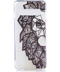Samsung Galaxy S10 Plus TPU Hoesje met Print Abstract Animal