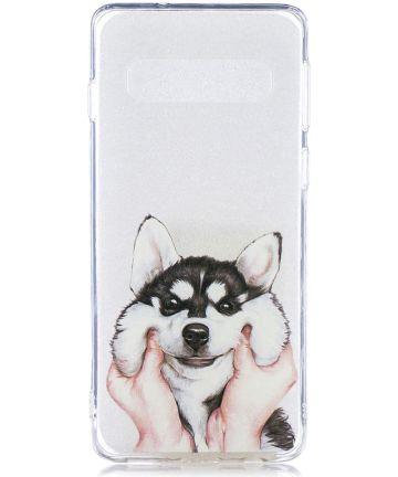 Samsung Galaxy S10 Plus TPU Hoesje met Print Dog Hoesjes