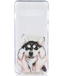 Samsung Galaxy S10 TPU Hoesje met Print Dog