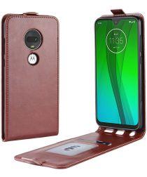 Motorola Moto G7 / G7 Plus Verticale Flipcase Bruin