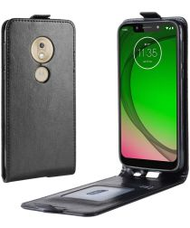 Motorola Moto G7 Play Verticale Flipcase Zwart