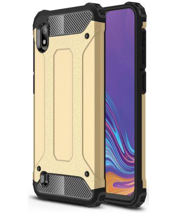 Samsung Galaxy A10 Hoesje Shock Proof Hybride Back Cover Goud Hoesjes