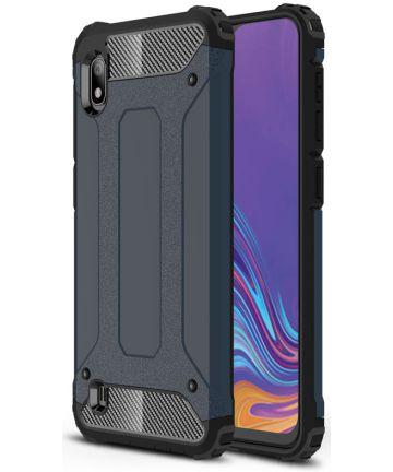 Samsung Galaxy A10 Hoesje Shock Proof Hybride Back Cover Blauw Hoesjes