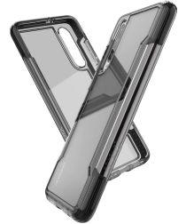 Raptic Clear Huawei p30 hoesje transparant zwart