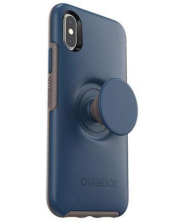 Otter + Pop Symmetry Series Apple iPhone X/XS Hoesje Blauw Hoesjes