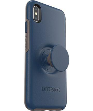 Otter + Pop Symmetry Series Apple iPhone XS Max Hoesje Blauw Hoesjes
