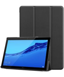 Huawei MediaPad T5 Tri-Fold Book Cover Zwart