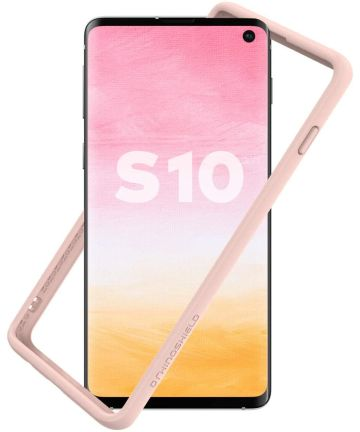 RhinoShield CrashGuard Samsung Galaxy S10 Bumper Hoesje Roze Hoesjes