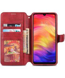 AZNS Xiaomi Redmi Note 7 Leren Stand Portemonnee Hoesje Rood