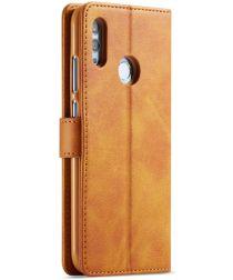 Huawei P Smart 2019 Leren Stand Portemonnee Bookcase Hoesje Bruin