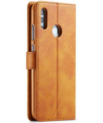 Huawei P Smart 2019 Leren Stand Portemonnee Bookcase Hoesje Bruin Hoesjes