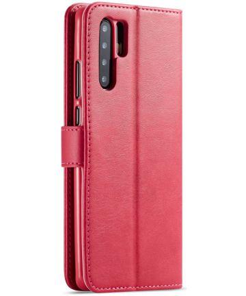 Huawei P30 Pro Book Case Portemonnee Hoesje met Magneetsluiting Rood Hoesjes