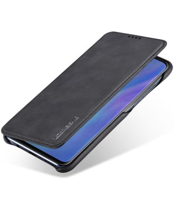 Huawei P30 Lite Portemonnee Bookcase Hoesje met Kaarthouder Zwart Hoesjes