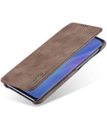 Huawei P30 Lite Portemonnee Bookcase Hoesje met Kaarthouder Coffee