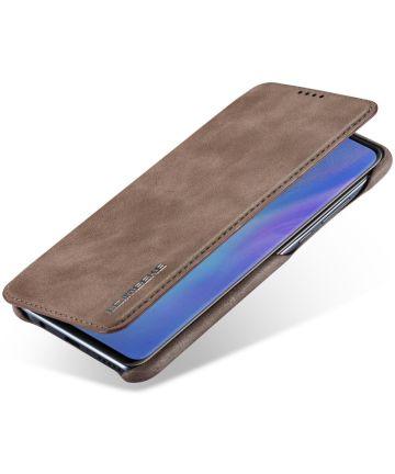 Huawei P30 Lite Portemonnee Bookcase Hoesje met Kaarthouder Coffee Hoesjes