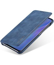 Huawei P30 Lite Portemonnee Bookcase Hoesje met Kaarthouder Blauw