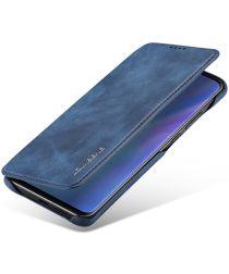 Huawei P30 Pro Retro Portemonnee Bookcase Hoesje Blauw