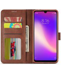 Xiaomi Redmi Note 7 Portemonnee Hoesje met Magneet Sluiting Bruin