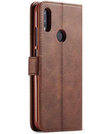 Xiaomi Redmi Note 7 Portemonnee Flip Hoesje met Magneet Sluiting Bruin Hoesjes