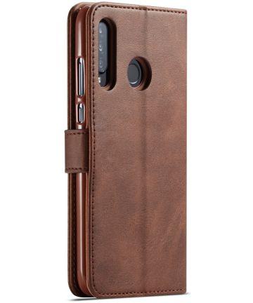 Huawei P30 Lite Portemonnee Bookcase Hoesje Magneet Sluiting Coffee Hoesjes