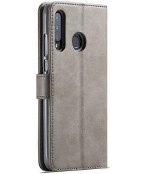 Huawei P30 Lite Portemonnee Bookcase Hoesje met Magneet Sluiting Grijs