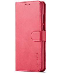 Huawei P30 Lite Portemonnee Bookcase Hoesje Magneet Sluiting Rood