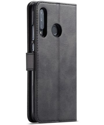 Huawei P30 Lite Portemonnee Bookcase Hoesje Magneet Sluiting Zwart Hoesjes