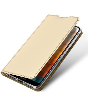 Dux Ducis Skin Pro Series Huawei Y6s / Y6 (2019) Hoesje Wallet Goud Hoesjes