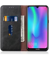 Huawei Y6s / Y6 (2019) Hoesje Vintage Portemonnee Zwart