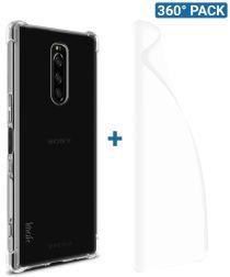 IMAK Sony Xperia 1 Hoesje TPU met Screenprotector Transparant
