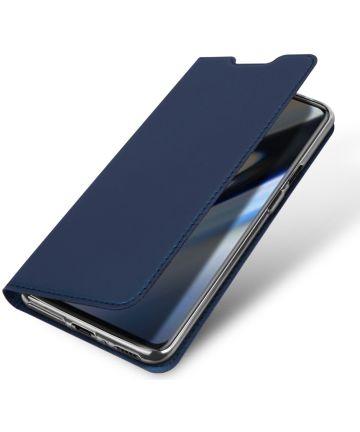 Dux Ducis OnePlus 7 Pro Bookcase Hoesje Blauw