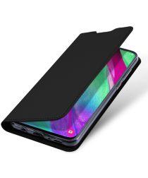 Dux Ducis Samsung Galaxy A40 Bookcase Hoesje Zwart