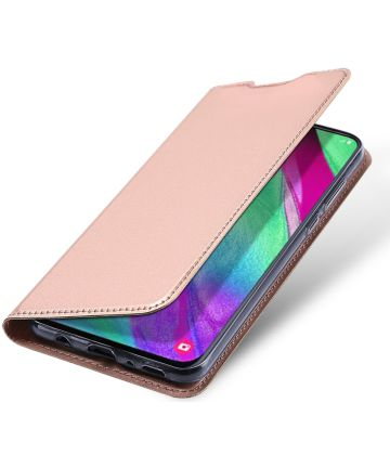 Dux Ducis Samsung Galaxy A40 Bookcase Hoesje Rose Gold
