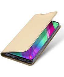 Dux Ducis Samsung Galaxy A40 Bookcase Hoesje Goud
