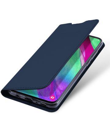Dux Ducis Samsung Galaxy A40 Bookcase Hoesje Blauw