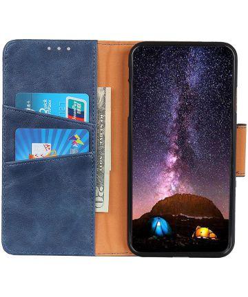 Xiaomi Redmi 7 Portemonnee Hoesje Splitleer Blauw Hoesjes