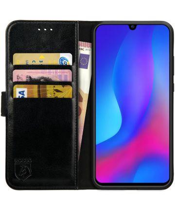 Rosso Element Huawei P Smart Plus (2019) Hoesje Book Cover Zwart Hoesjes