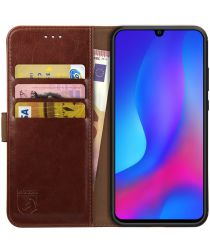 Rosso Element Huawei P Smart Plus (2019) Hoesje Book Cover Bruin