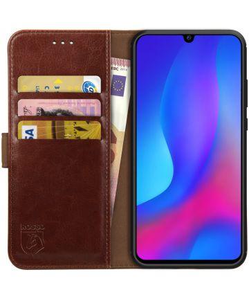 Rosso Element Huawei P Smart Plus (2019) Hoesje Book Cover Bruin Hoesjes